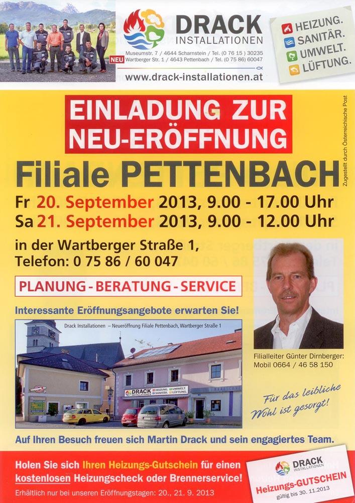 NEU-ERÖFFNUNG Filiale Pettenbach
